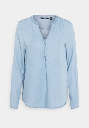 VMVIVIANA TUNIC - Blouse - light blue denim
