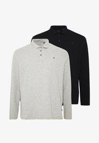 Burton Menswear London - 2 PACK - Polo shirt - black/grey - 5