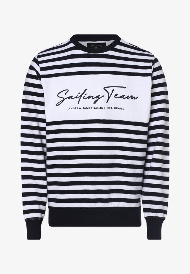 Sweatshirt - marine weiß