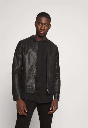 JORWARNER JACKET - Veste en similicuir - black