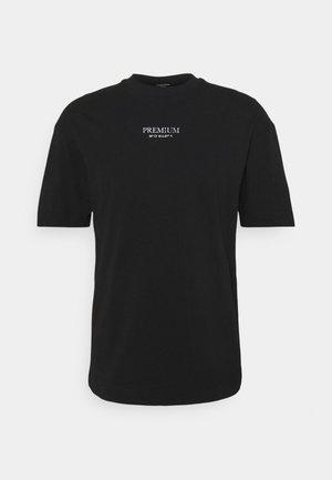 JPRBLAGEO BOX FIT TEE - T-shirt print - black