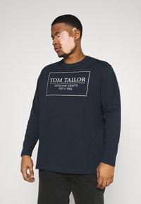 TOM TAILOR MEN PLUS - Long sleeved top - dark blue - 0