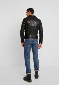 AllSaints - RIGG BIKER - Leather jacket - black - 2