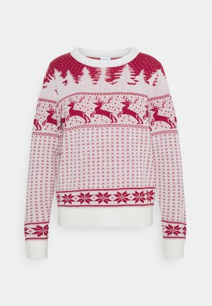 VICOMET CHRISTMAS - Maglione - snow white/red