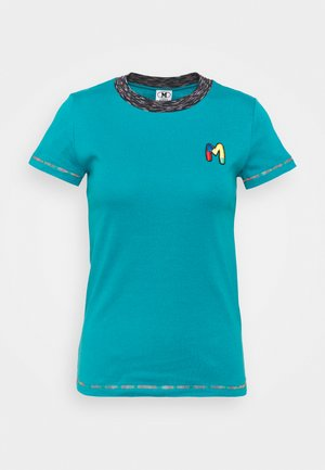 T-shirt print - turquoise