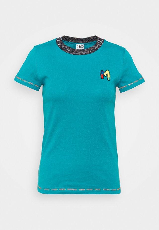 T-shirt imprimé - turquoise