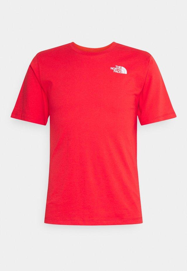 SIMPLE DOME - Jednoduché triko - horizon red
