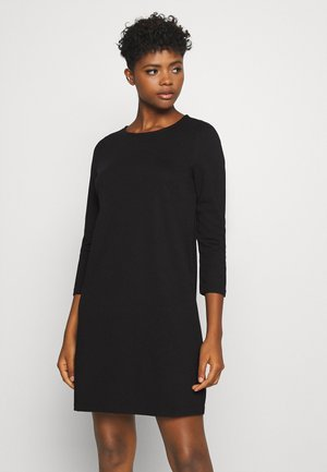 VMEVA 3/4 SLEEVE SHORT DRESS - Abito in maglia - black
