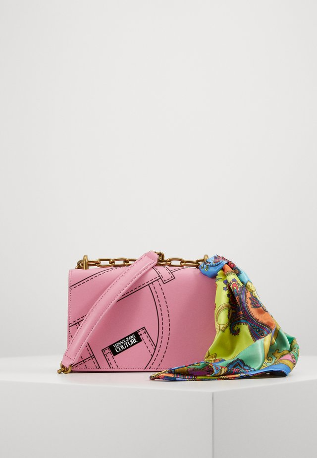 CROSS BODY FLAP CHAINCUCITURE - Sac bandoulière - rosa