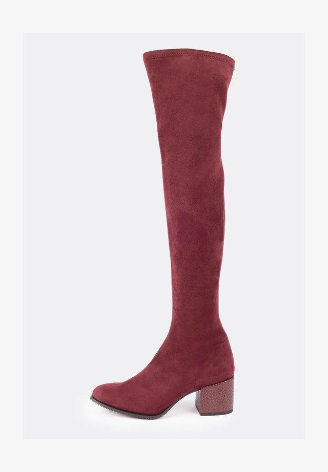 Overknee laarzen - burgundy
