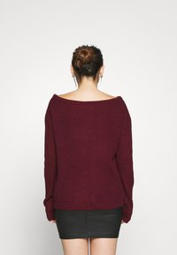 Missguided Petite - OPHELITA OFF SHOULDER JUMPER - Jumper - burgundy - 2