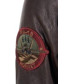 TOP GUN - Leather jacket - braun - 5