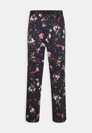 P-TOLLER FLOWER - Trousers - black