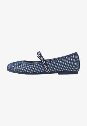 AUDRINE - Baleríny s páskem - blue