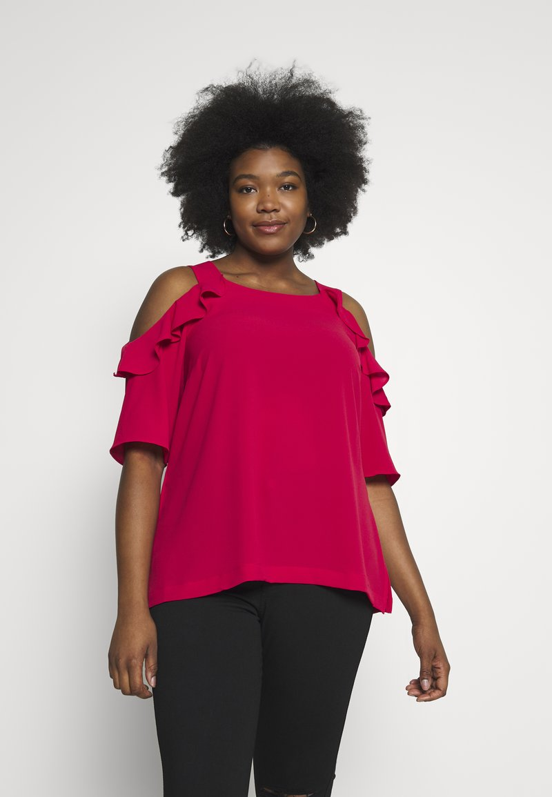 City Chic - WILD SLEEVE - Blůza - raspberry
