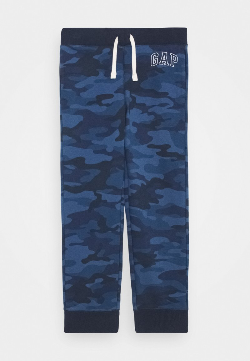 GAP - BOY HERITAGE LOGO  - Tracksuit bottoms - blue