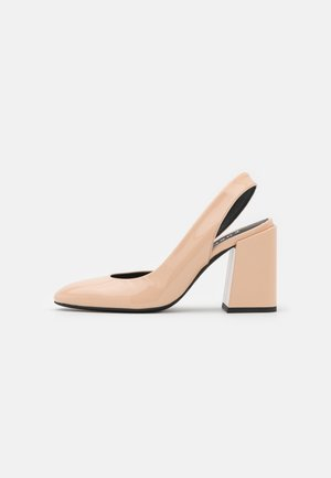 BLOCK SLING BACK - Avokkaat - nude