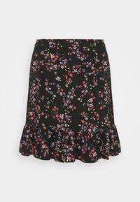 Pieces Curve - PCLALA SKIRT - Minifalda - black/splash - 0