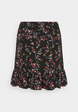 PCLALA SKIRT - Minigonna - black/splash