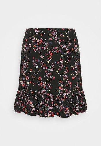 PCLALA SKIRT - Mini skirt - black/splash