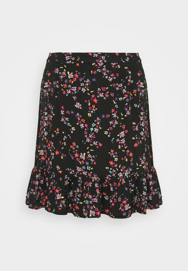 PCLALA SKIRT - Mini skirt - black/splash
