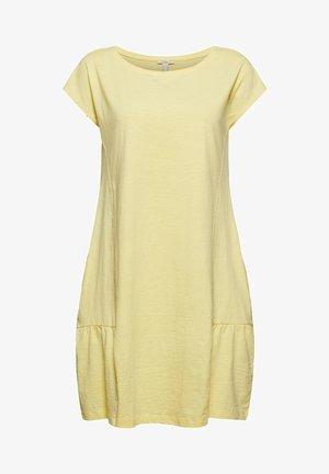 SLUB - Jersey dress - light yellow