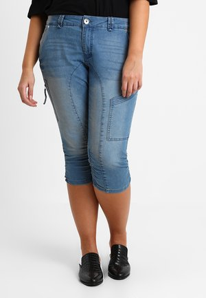 CAPRI - Denim shorts - light blue denim