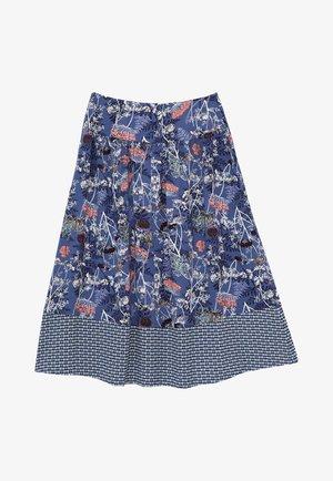 A-line skirt - marineblau mehrfarbig