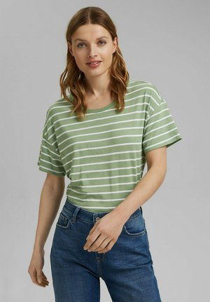 Print T-shirt - leaf green