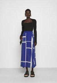 Libertine-Libertine - BOX - A-line skirt - limouges blue - 1