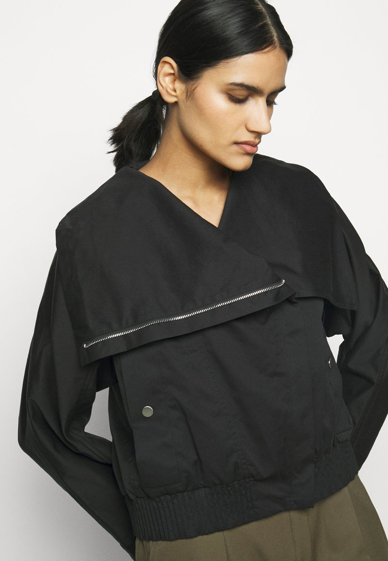 3.1 Phillip Lim - JACKET WITH EXAGGERATED COLLAR - Light jacket - black