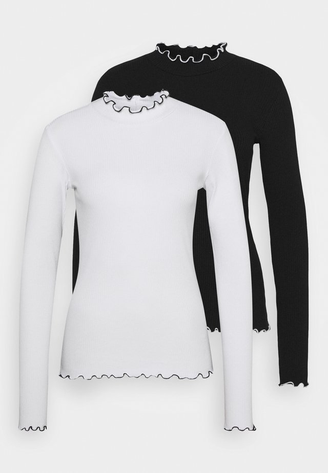 PCARDENA 2 PACK  - Long sleeved top - black/white