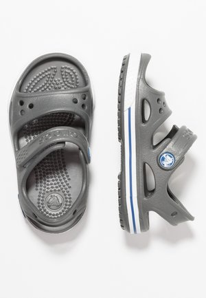 CROCBAND RELAXED FIT - Pool slides - slate grey/blue jean