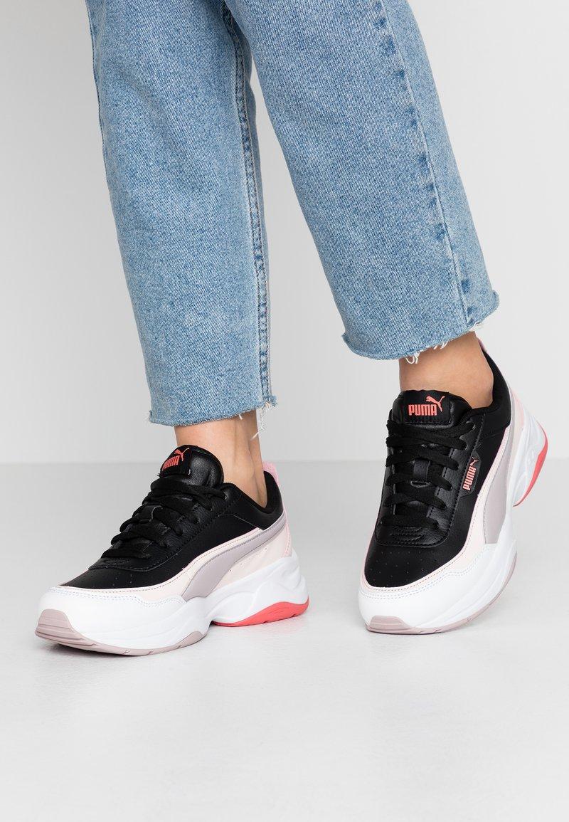 Puma - CILIA MODE - Sneakersy niskie - black/rosewater/raindrops/sun kissed coral