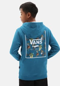 Vans - BY PRINT BOX BACK PO BOYS - Hoodie - moroccan bl/xtreme sharks