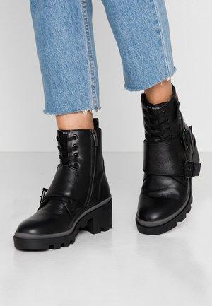 DEBRA - Cowboy/biker ankle boot - black