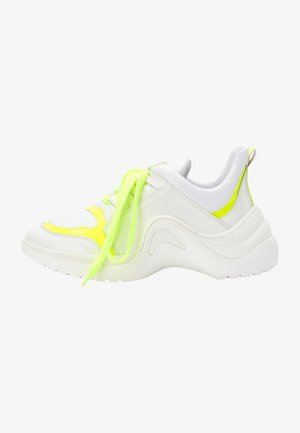 Sneakers basse - white yellow