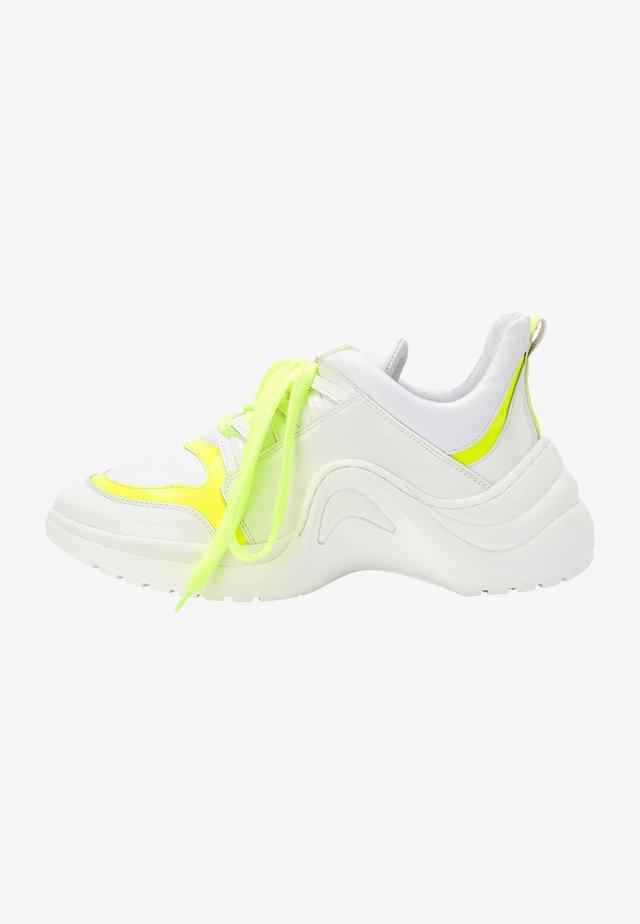 Sneakers laag - white yellow