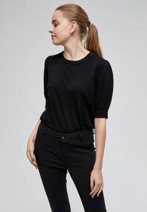 LIVA - Basic T-shirt - black