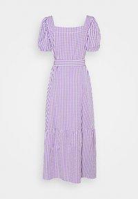 VILA TALL - VIGRIMDA MAXI BELT DRESS - Day dress - violet tulip/white - 1