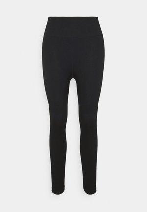 SEAMLESS HI LOW 7/8 - Collants - black