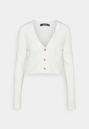 CROP CARDIGAN - Cardigan - off white