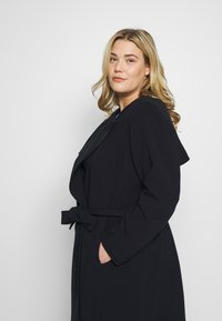 Lauren Ralph Lauren Woman - CREPE SYNTHETIC COAT - Frakker / klassisk frakker - midnight - 3