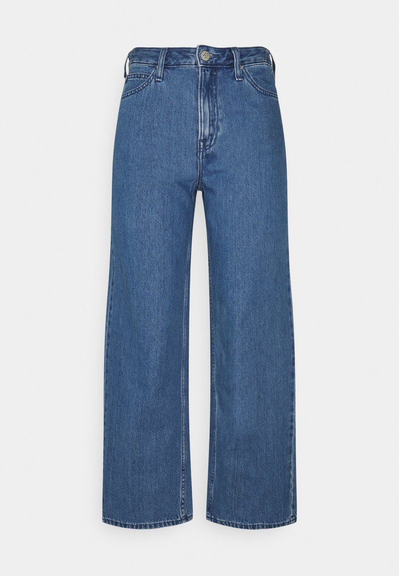 Lee - WIDE LEG - Jeans baggy - mid stone