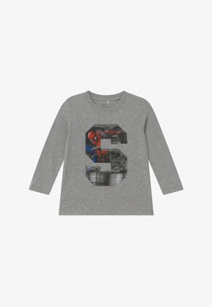 NMMSPIDERMAN - Long sleeved top - grey melange