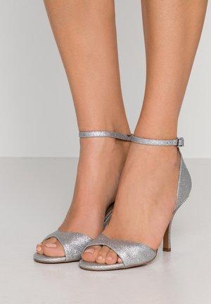 MALINDA - Sandaler med høye hæler - silver