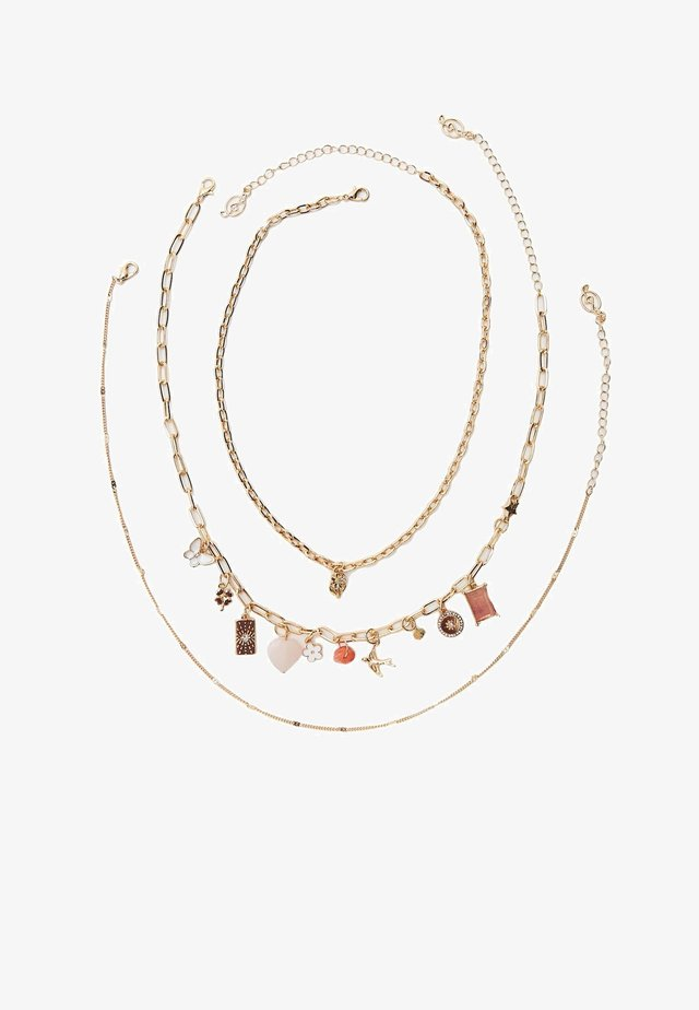 3 PACK - Halsband - gold
