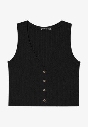MIT KNÖPFEN - Waistcoat - black