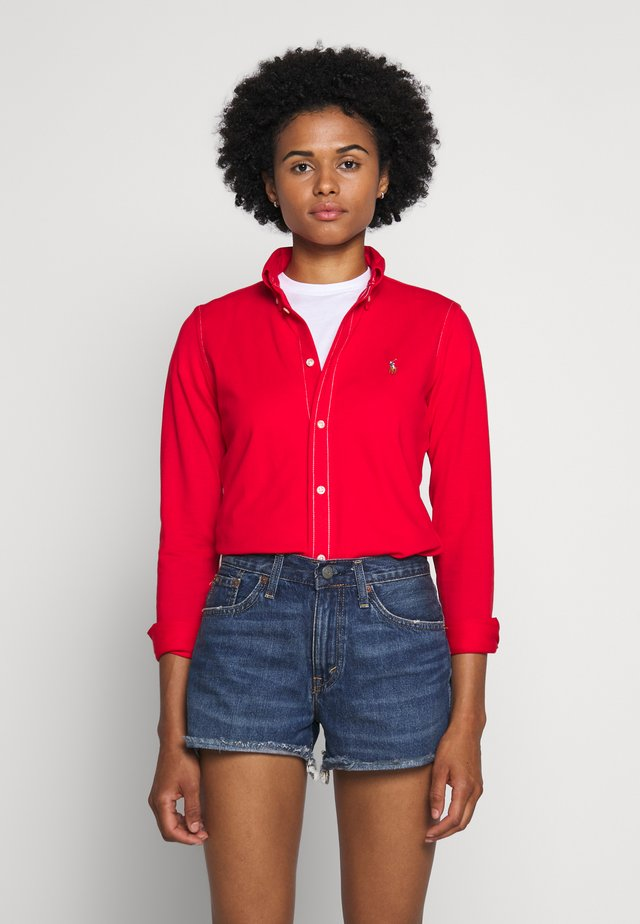 HEIDI LONG SLEEVE - Button-down blouse - african red