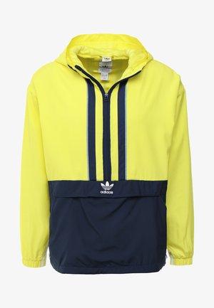 AUTH ANORAK - Windbreaker - shock yellow/collegiate navy